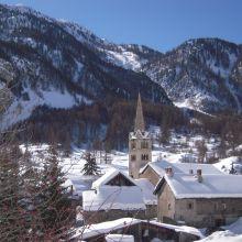 Le village de Névache (Hautes-Alpes)