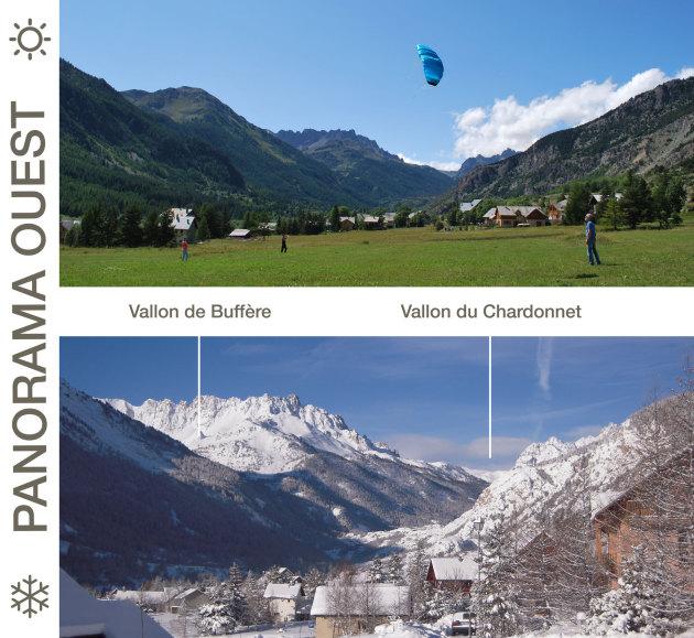 Coucher de soleil sur le Vallon de Buffère, Vallées de La Clarée, Alpes du Sud