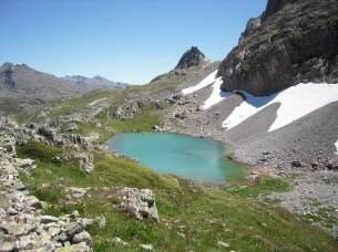 Lac de la Clarée à 2433 mètres