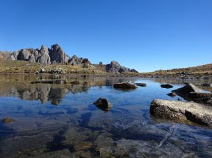 Lac de la Mine, Chardonnet lors du séjour rando liberté