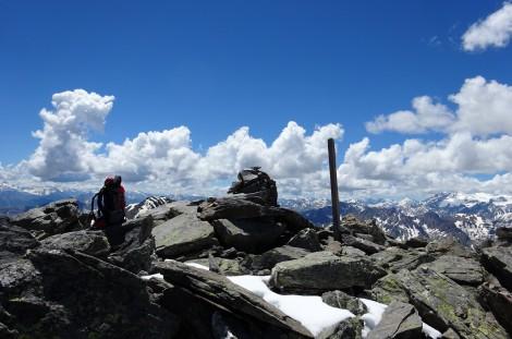 Au sommet du Pic du Lac Blanc