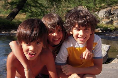 Enfants à Névache